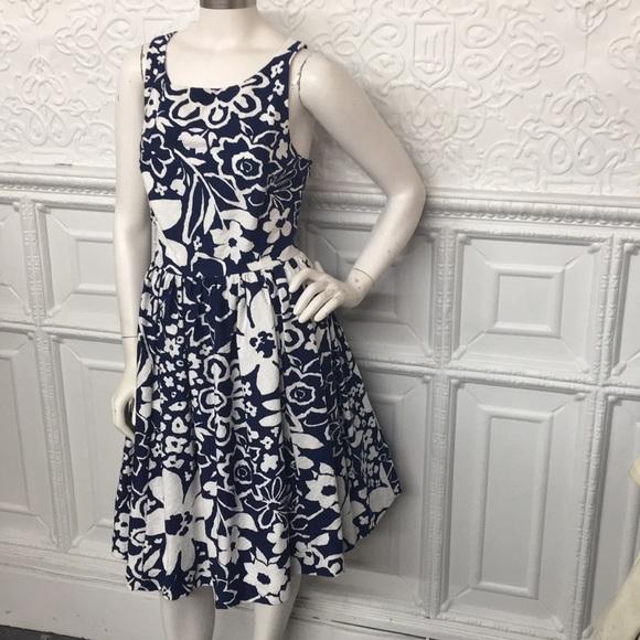 e0d2e4397dc NWT kate spade Tanner Blue   White Open Back Dress